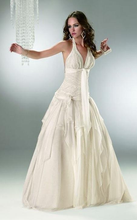 rico y magnífico suave y ligero material seleccionado Vestidos de novia color ivory o champagne - Paperblog
