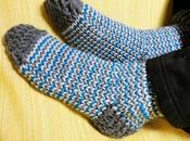 Teje calcetines lana telar circular