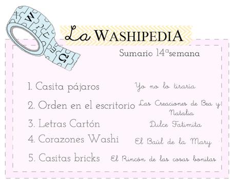 WASHIPEDIA 14ª SEMANA CON REGALO Y RETO INCLUIDO