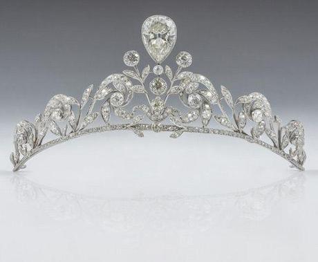 Tiara de la Famila Lannoy que la ha lucido el dia de su enlace matrimonial Estefanía Lannoy con el Principe Guillermo de Luxemburgo