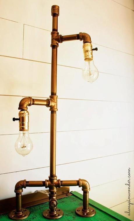Dale un nuevo uso a la tuber as paperblog - Como hacer una lampara de pie artesanal ...