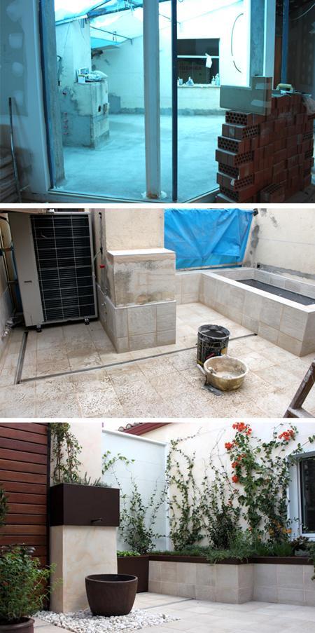 Un jardin de dise o con fuente bougavilla paperblog - Fuentes para patios y jardines ...