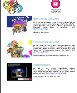 Agenda actividades niños enero Barcelona
