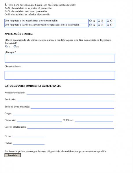 Carta De Recomendaci 243 N Acad 233 Mica Para Aplicar A Una Maestr 237 A Paperblog