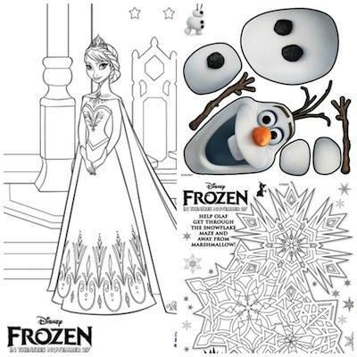Dibujos y actividades para imprimir de Disney Frozen