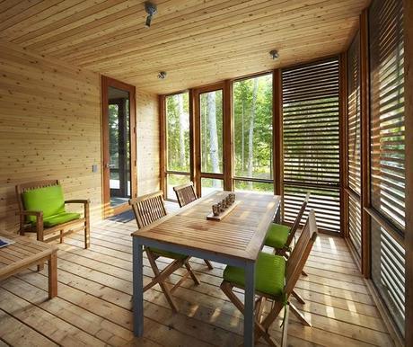 Casa cabana rustica y moderna en canada paperblog for Casa moderna y rustica
