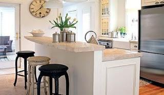 Cocinas blancas con desayunador paperblog for Diseno de cocinas integradas al comedor