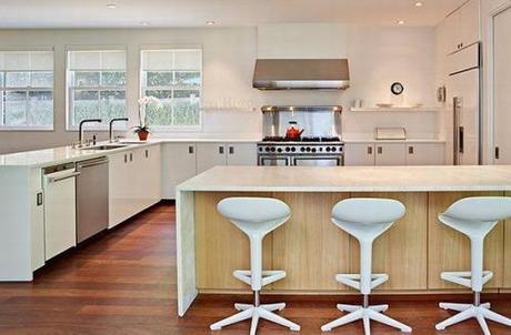 Cocinas blancas con desayunador   paperblog