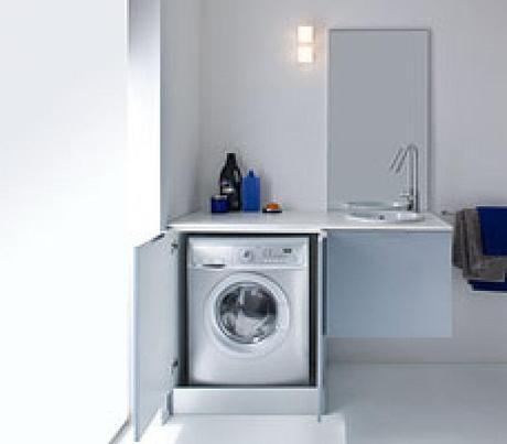 Cuartos de lavado en el ba o paperblog - Lavadora en el bano ...