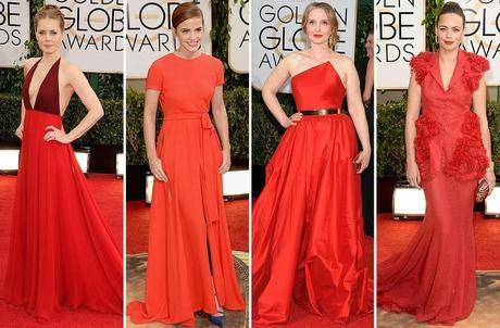 Amy Adams, Emma Watson, Julie Delpy y Berenice Bejo Globos de Oro 2014
