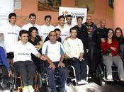 Cinco campeones ruedas entrenan discapacitados Centro Deportivo Puente Fundación Isidre Esteve