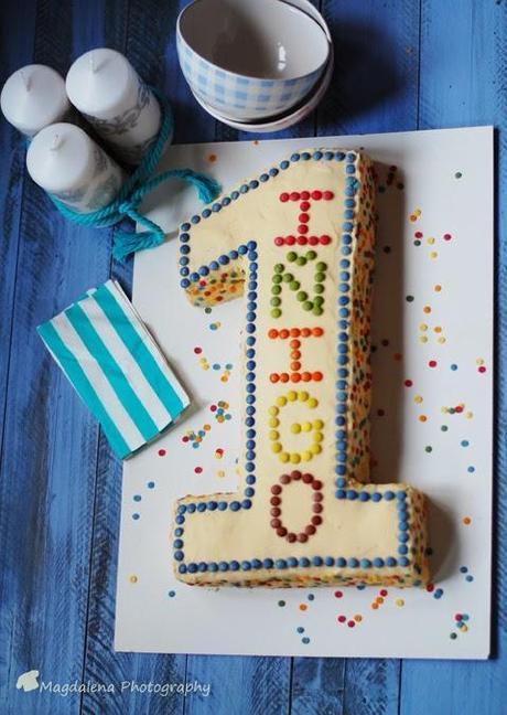 Baño Chocolate Blanco Para Tartas:Tarta cumpleaños infantil 1 año – baño chocolate blanco – Paperblog