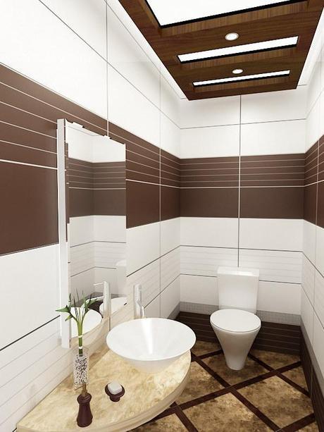 Baños Beige Con Blanco:El color con que decoramos nuestro cuarto de baño tiene una gran
