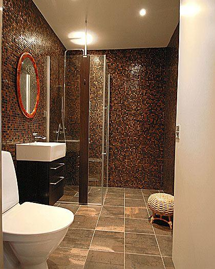 Decoracion Baño Marron Beige:Brown Tile Bathroom Ideas