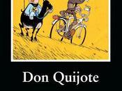 Quijote cabalga Alemania bicicleta paraguas