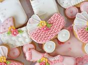 Galletas decoradas para baby shower (coche canasta)