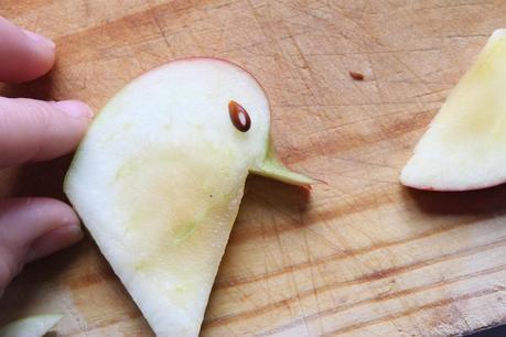 Ensalada cisne de manzana y paso paso