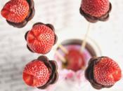 Valentín Tulipanes chocolate fresas