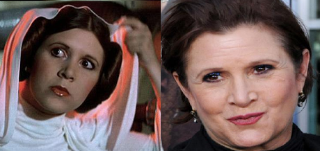 actiz princesa leia fisher antes y despues