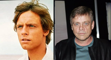 luke skywalker actor mark hamill antes y despues