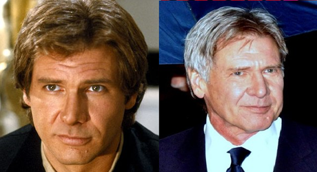 han solo antes despues harrison ford