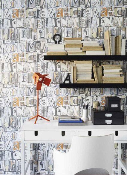 Ideas para decorar con papel pintado paperblog - Papel pintado mariscal ...