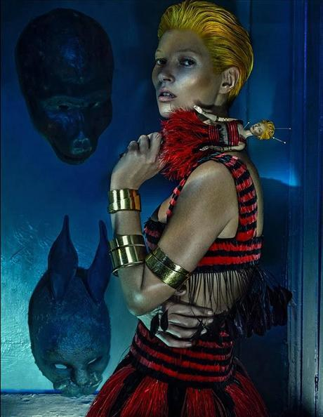Kate Moss stuns in Alexander McQueen Spring/Summer 2014 campaign by Steven Klein