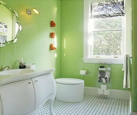 11 bellos dise os ba os verdes paperblog for Accesorios bano verde