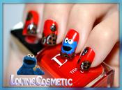 Nail Cookie Monster Sesame Street