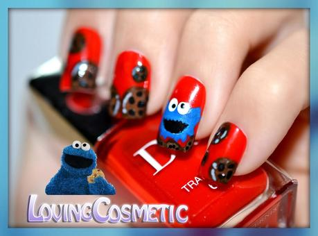 Nail Art Cookie Monster - Sesame Street