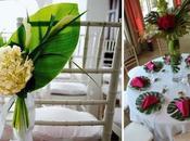 Ambientación para bodas verano, simple tropical