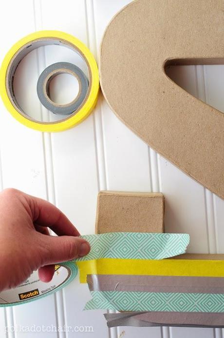 Decorar Letras De Carton Con Washi Tape