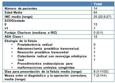 Manejo quirúrgico de las fístulas rectourinarias por vía transrectal sagital posterior