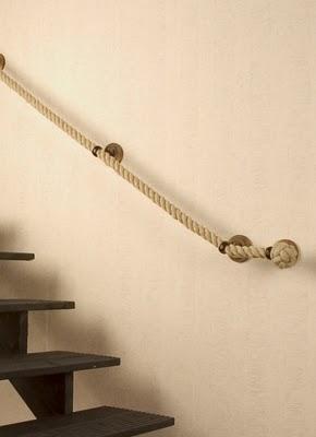 un pasamanos hecho con cuerda paperblog
