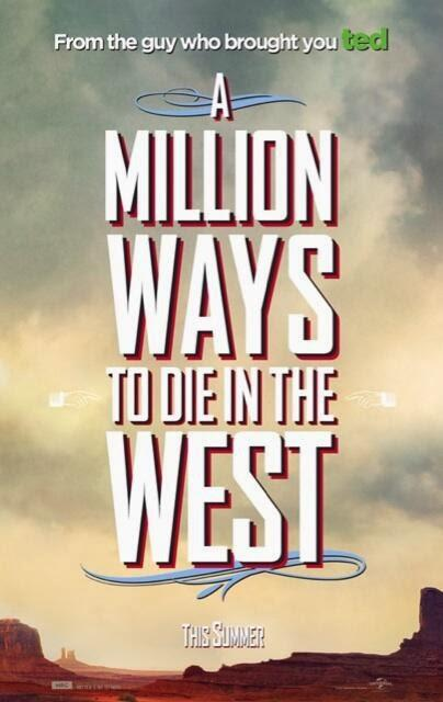 Horro-pósters de 'A Million Ways to Die in he West', con Charlize Theron, NPH y Liam Neeson