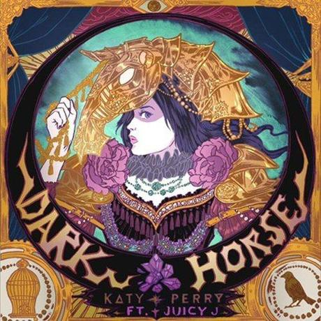 The cover art of Dark Horse features an All-Seeing Eye at the top, signaling that this is sponsored by the occult elite. Also, the bird and the cage hint to the occult mind control elements of the song.