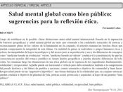 Salud mental global como bien público Fernando Lolas