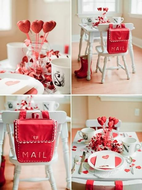 Tres decoraciones de mesa para san valentin paperblog for Decoracion mesa san valentin
