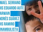 Aute, Ismael Serrano, Marwan, Andrés Suárez, Luis Ramiro Funambulista cantan niños palestinos