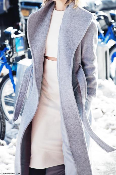 New_York_Fashion_Week-Street_Style-Fall_Winter-2015-Grey_Coat-White-Cropped_Top-