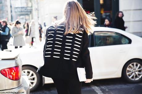 New_York_Fashion_Week-Street_Style-Fall_Winter-2015-Stripes_Fur_Coat-White_Boots-Black_And_White-