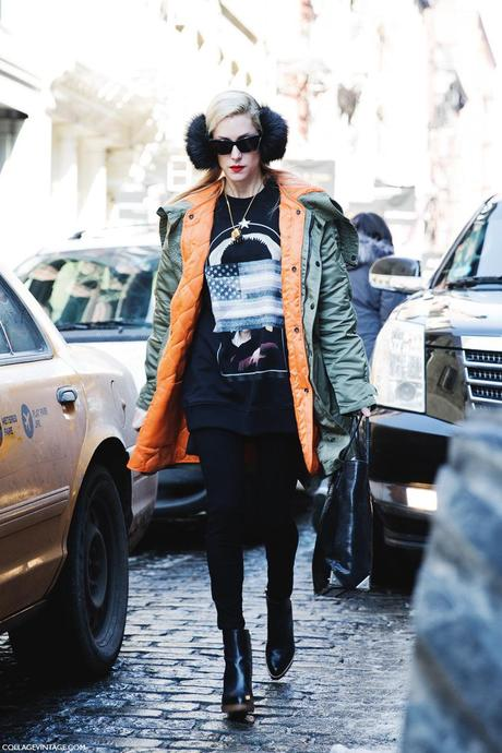 New_York_Fashion_Week-Street_Style-Fall_Winter-2015-Stripes_Fur_Coat-White_Boots-Joanna_Hillman-Parka-Black-Sweatshirt-