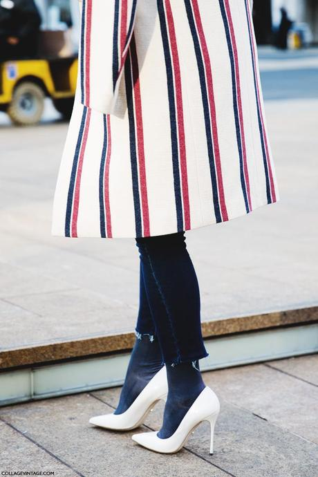 New_York_Fashion_Week-Street_Style-Fall_Winter-2015-Stripes_Fur_Coat-White_Boots-Striped_COat-Shocks-