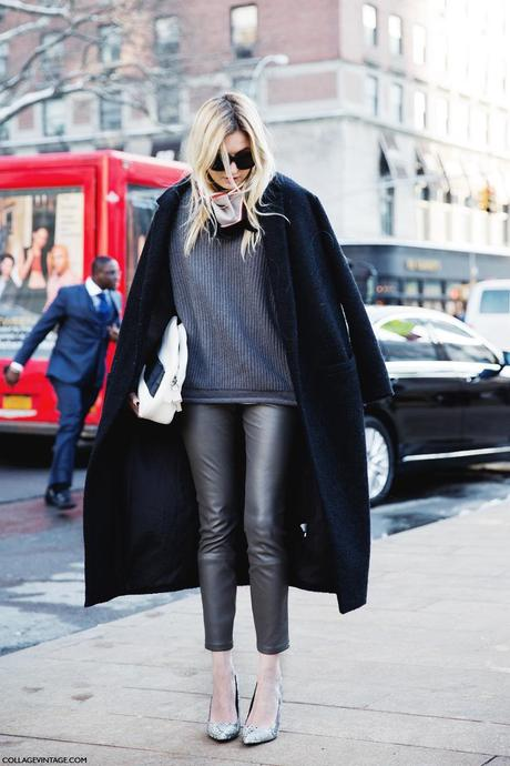 New_York_Fashion_Week-Street_Style-Fall_Winter-2015-Stripes_Fur_Coat-White_Boots-Grey_on_Grey-Neck_Scarf-Camille_Charriere-1