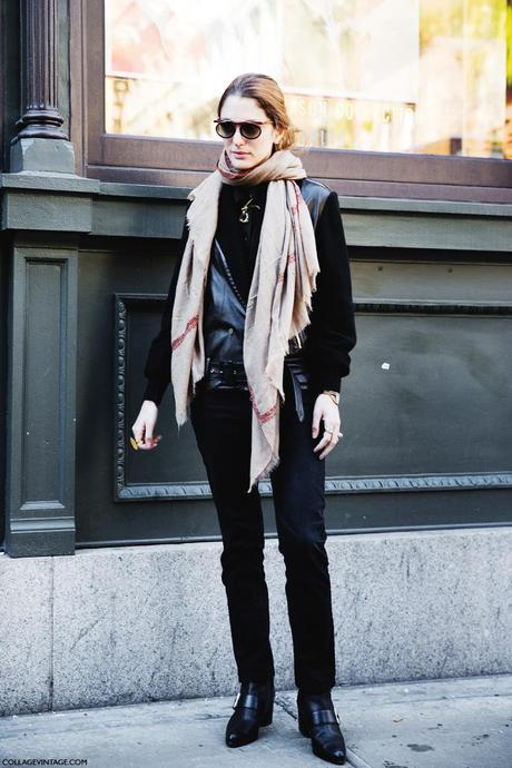 New_York_Fashion_Week-Street_Style-Fall_Winter-2015-Stripes_Fur_Coat-White_Boots-Sofia_Sanchez_barrenechea-Black-