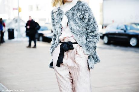 New_York_Fashion_Week-Street_Style-Fall_Winter-2015-Fur_Coat-Pink-