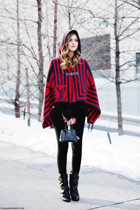 New_York_Fashion_Week-Street_Style-Fall_Winter-2015-Stripes_Fur_Coat-White_Boots-Chiara_Ferragni-Louis_Vuitton_Cape-1