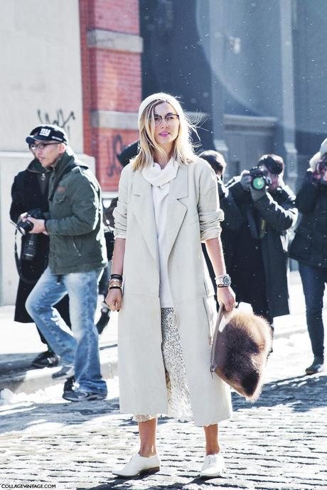 New_York_Fashion_Week-Street_Style-Fall_Winter-2015-Stripes_Fur_Coat-White_Boots-Nasiba_Adilova-Sequins_Skirt-White_Oxfors-Trench-Beanie-1