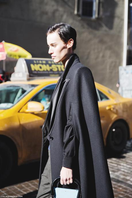 New_York_Fashion_Week-Street_Style-Fall_Winter-2015-Cape-Black-Model