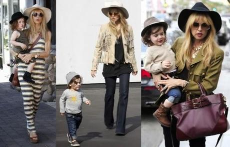 Rachel Starr y su hijo